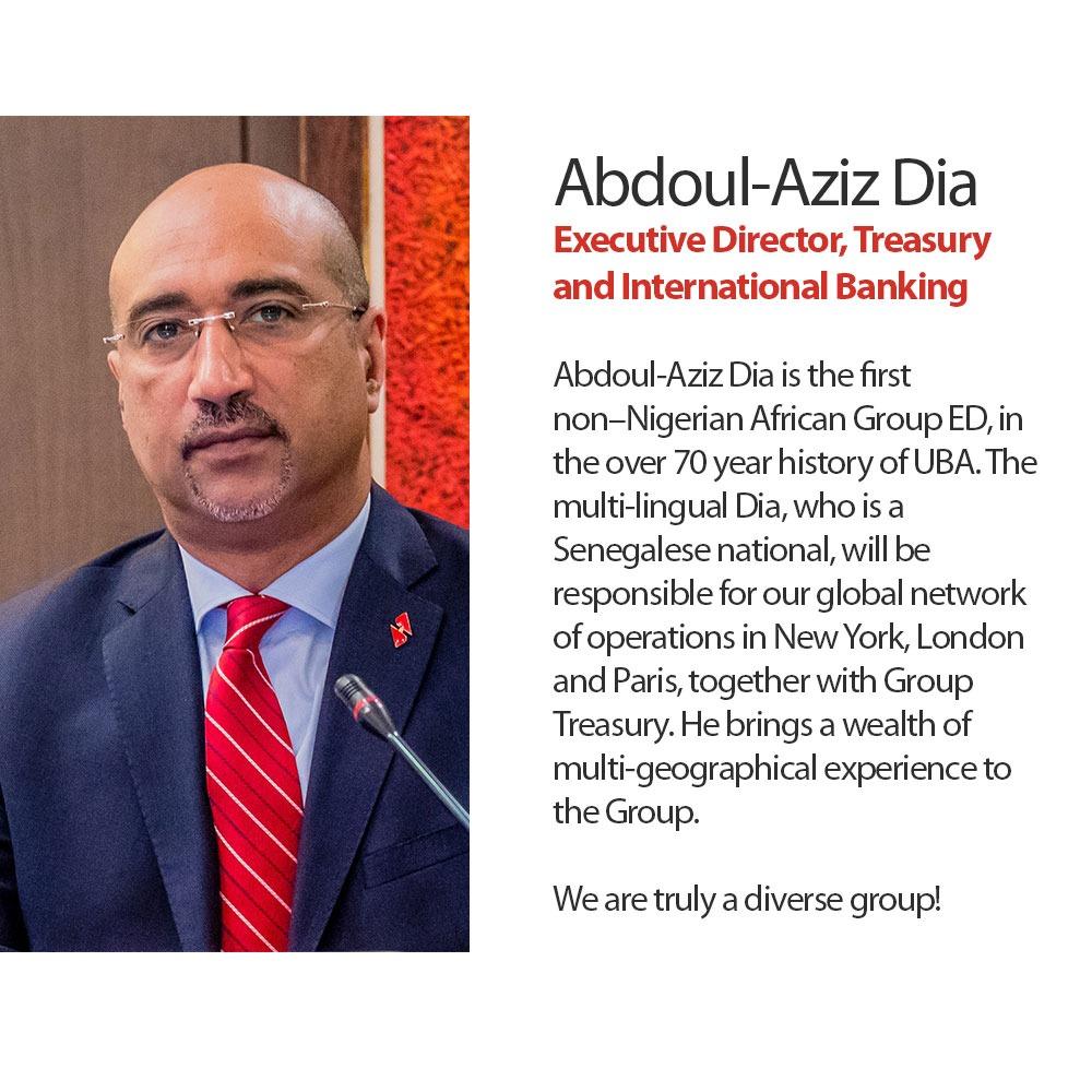 Abdoul-Aziz Dia ED. Treasury & International Banking, United Bank for Africa
