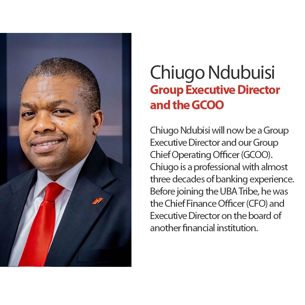 Chiugo Ndubuisi, Group ED and GCOO- United Bank for Africa