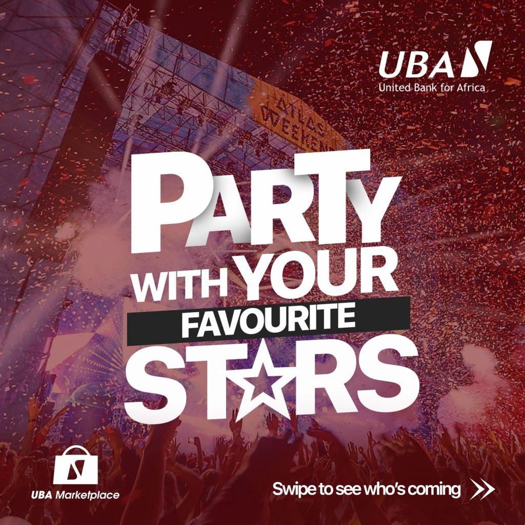Party at UBA marketplace