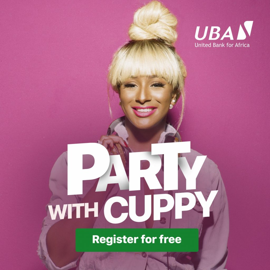 party with DJ Cuppy at UBA marketplace