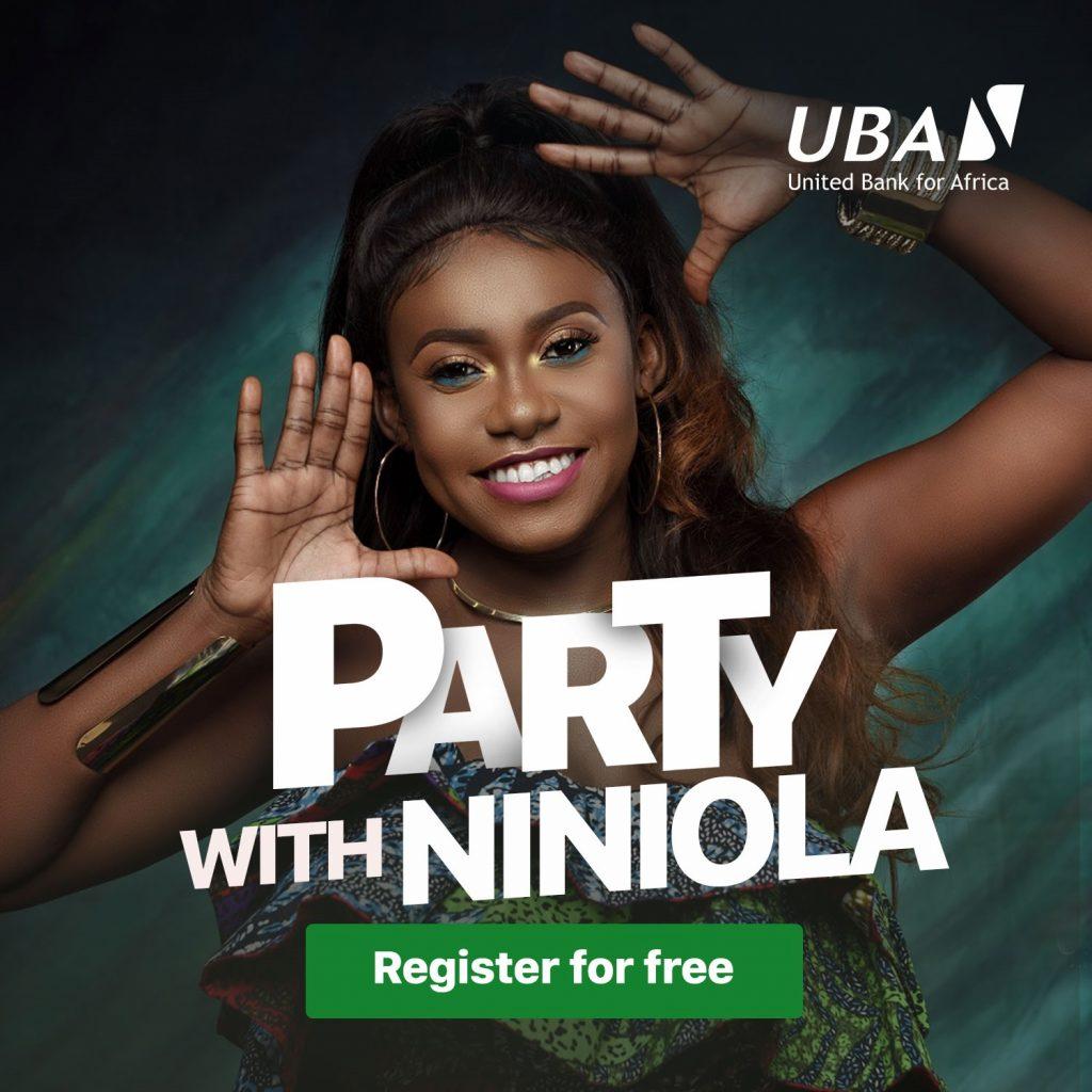 party with Niniola at the UBA marketplace