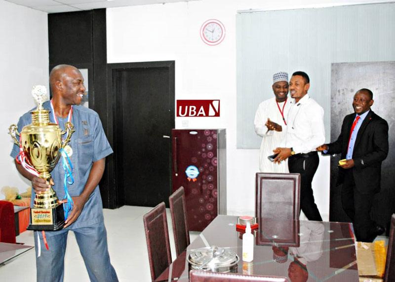 UBA Lions fc wins football trophy