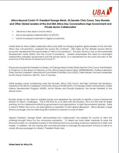 UBA-Africa-Day-2020-press-release