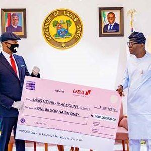 COVID-19-UBA-Presents-N1billion-To-Lagos-State